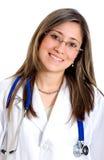 Retrato femenino del doctor Imagen de archivo libre de regalías