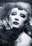 Retrato femenino del grunge. imágenes de archivo libres de regalías