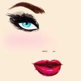 Retrato femenino hermoso libre illustration