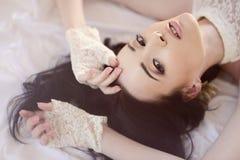 Retrato fêmea da senhora bonito dentro Fotos de Stock Royalty Free