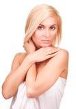 Retrato fêmea macio e sensual Imagens de Stock Royalty Free
