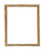 Retrato-frame de madeira isolado no fundo branco Fotografia de Stock