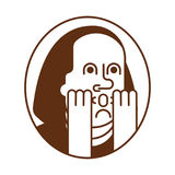 Retrato Franklin OMG Oh mi dios Benjamin Franklin stock de ilustración