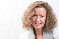 Retrato fuerte, mujer enojada Fotografía de archivo