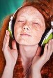 Retrato Funky da música imagem de stock