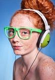 Retrato Funky da música foto de stock