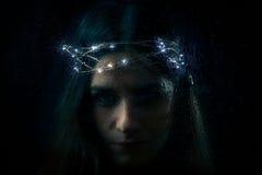 Retrato gótico da mulher Fotos de Stock Royalty Free
