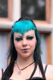 Retrato gótico de la muchacha Foto de archivo