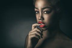 Retrato glamoroso Fotografia de Stock