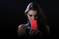 Retrato glamoroso da tecnologia foto de stock royalty free