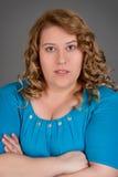 Retrato gordo de la mujer Foto de archivo