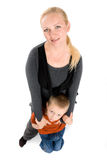 Retrato graciosamente de la madre joven y de su hijo Imagen de archivo