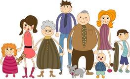 Retrato grande da família ilustração royalty free
