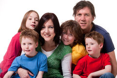Retrato grande da família Imagem de Stock Royalty Free