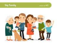 Retrato grande da família ilustração do vetor