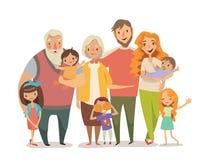 Retrato grande de la familia libre illustration