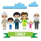 Retrato grande de la familia Imagen de archivo libre de regalías