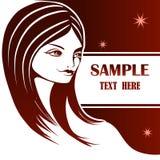 Retrato gráfico de uma rapariga Imagem de Stock Royalty Free