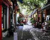 Retrato griego de la vida cotidiana en Salónica Foto de archivo