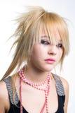 Retrato gritador de la muchacha del emo Imagen de archivo