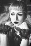 Retrato gótico del lolita Imagen de archivo libre de regalías