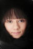 Retrato hermoso de la muchacha del invierno Imagen de archivo libre de regalías
