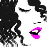 Retrato hermoso de la muchacha del pelo de la belleza Imagen de archivo libre de regalías