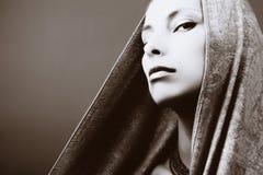 Retrato hermoso de la mujer Imagen de archivo libre de regalías