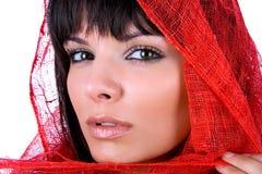 Retrato hermoso de la mujer. Fotografía de archivo