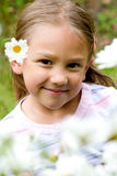 Retrato hermoso de la niña Imagen de archivo