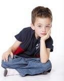 Retrato hermoso del muchacho en estudio Fotos de archivo