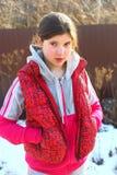 Retrato hermoso del país de la muchacha del preadolescente Foto de archivo