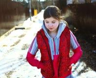 Retrato hermoso del país de la muchacha del preadolescente Foto de archivo libre de regalías