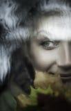 Retrato hermoso del primer de la mujer fotografía de archivo