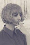 Retrato hermoso joven de la mujer fotografía de archivo