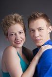 Retrato hermoso joven de pares felices en amor Fotos de archivo libres de regalías