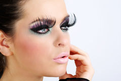 Retrato hermoso. Maquillaje creativo Imagen de archivo