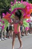 Retrato hermoso y traje colorido en el Indy Pride Parade Fotos de archivo libres de regalías