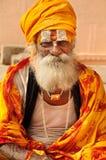 Retrato hindú del monje imagen de archivo libre de regalías