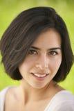 Retrato hispánico joven hermoso de la mujer Imagen de archivo libre de regalías