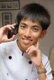Retrato homem da chamada chinesa Foto de Stock Royalty Free