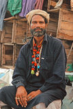 Retrato - homem de Malang na praia de Clifton, Karachi Fotografia de Stock