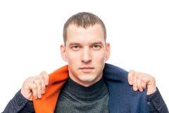 Retrato horizontal de um homem 30 anos Fotos de Stock Royalty Free