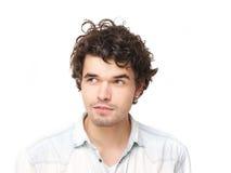 Retrato horizontal de um homem novo considerável Imagem de Stock Royalty Free