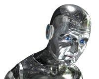 Retrato idoso do robô - tecnologia do envelhecimento Fotografia de Stock Royalty Free