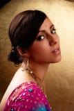Retrato indiano da beleza da mulher Fotografia de Stock Royalty Free