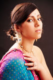 Retrato indiano da mulher Imagens de Stock Royalty Free