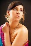 Retrato indiano da mulher Fotografia de Stock Royalty Free