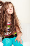 Retrato infeliz triste da criança da menina Imagem de Stock Royalty Free