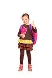 Retrato integral de una muchacha de la escuela Imagen de archivo